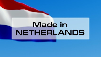 Made in Netherlands. Dutch made. Product of Holland concept