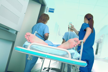 Emergency transport patient in the intensive care unit
