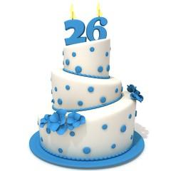 Birthday cake with number twenty six