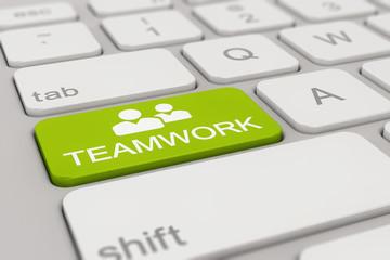 Tastatur - teamwork - grün