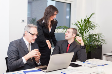 Business people at work in an office