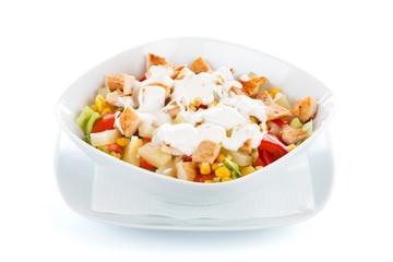 Fresh chopped vegetables salad
