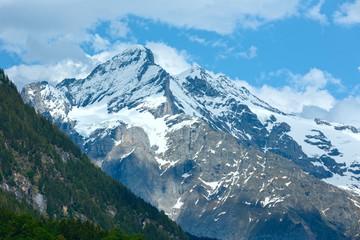 Summer mountain with snow (Switzerland)