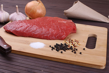 fresh meat - Stock Image