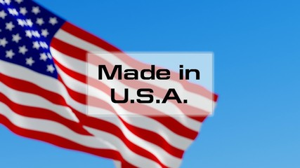 Made in USA. American made. Product of America concept