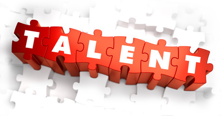 Talent - Text on Red Puzzles.