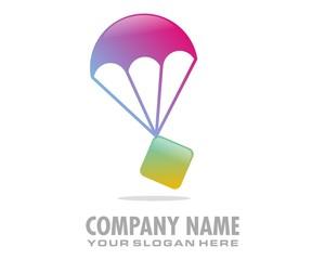 parachute box logo image vector