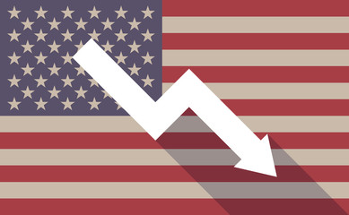 USA flag icon with a graph