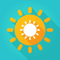 Long shadow sun icon with a sun
