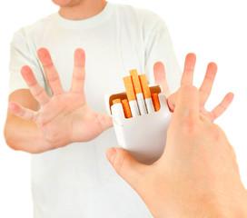 Person refuse a Cigarettes