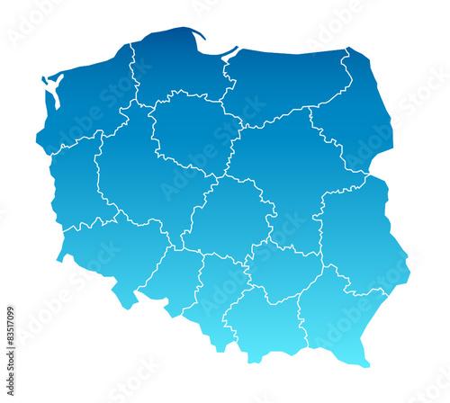 Fototapeta Karte Polen
