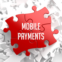 Mobile Payments on Red Puzzle.