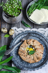 Whole wheat galette