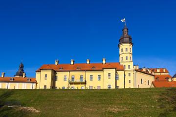 Medieval castle in Niasvizh, Belarus.