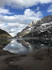 marmolada e lago fedaia