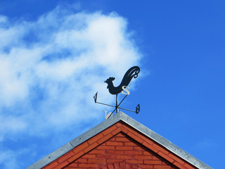 Denmark, Low angle view of weather vane