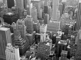 USA, New York State, New York City, Aerial view of city
