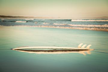 Australia, Surfboard on beach
