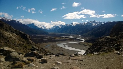 Argentina, Santa Cruz, Patagonia, El Chalten, Winding river