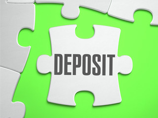 Deposit - Jigsaw Puzzle with Missing Pieces.
