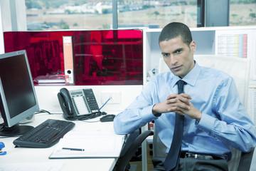 Portrait of man in office