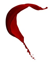 isolated splash of blood with clipping path
