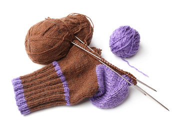 Wool knitted sock