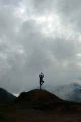 Nepal, Person In Yoga Pose