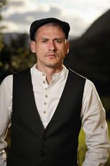 Portrait of man wearing shirt and waistcoat