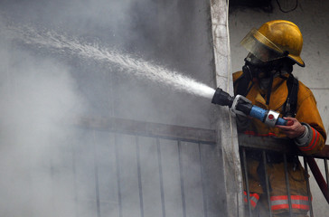 CHIANG MAI, THAILAND MAY 17: Fire in Warehouses - catch fire in