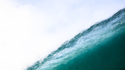 Close up of large wave with spray