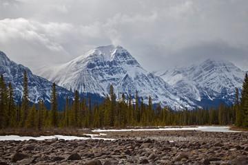 Canada, Alberta, Jasper National Park, Jasper Mountains