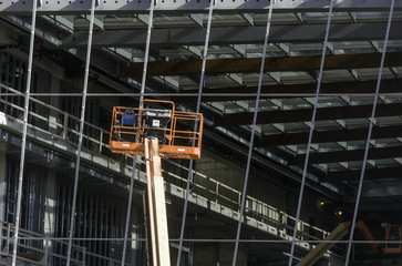 USA, Illinois, Cook County, Evanston, Construction site