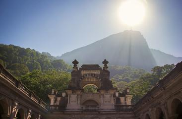 Brazil, Rio de Janeiro, Low angle view of Christ Redeemer