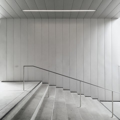 USA, California, Oakland, Empty stairs at Oakland Museum of California