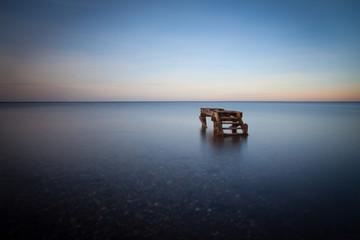 Germany, Calm sea at dusk