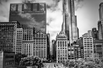 USA, Illinois, Chicago, Loop, Millennium Park, McCormick Place Busway, Edge of Millennium