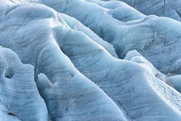 Ice patterns in Skaftafell glacier, Iceland