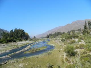 Rio Elqui un ambiente natural con poca agua