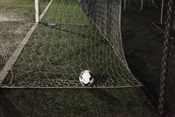Italy, Ball of soccer in soccer goal