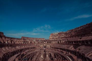 Italy, Rome, Coliseum interior ruins