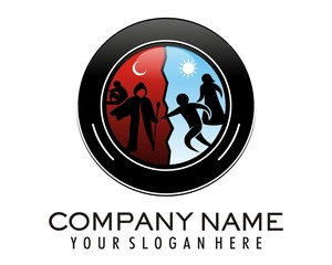 silhouette deviant sect logo image vector