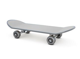 Skateboard on white
