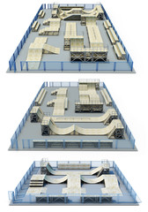 Variants of the elements skate park