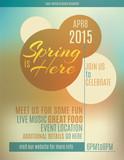 Fototapety Live music festival spring poster or flyer design template