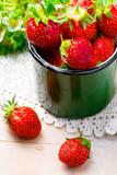 fresh, organic strawberry