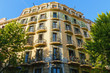 Facade of typical residential building in  Eixample district