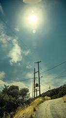 Strommast in Griechenland