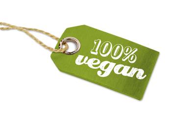 Holzanhänger mit 100% Vegan