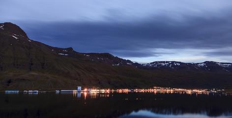 Seydisfjordur, Iceland at night